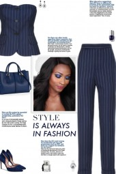 How to wear a Co-Ord Pinstriped Pant Set!