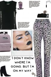 How to wear Abstract Print Denim Pants!