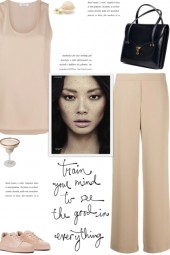 How to wear a Co-Ord Solid Color Polyster Set!