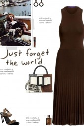 How to wear a Sleeveless Pleated Ribbed Dress!
