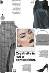 How to wear a Plaid-Check Pencil Skirt!