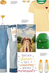 How to wear a Striped Multicolor T-Shirt!