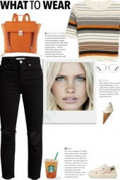 How to wear a Striped Round Neck Knit Top!