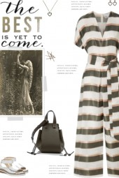 How to wear a Striped Organza Jumpsuit!