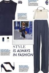How to wear Polka Dot Silk Trousers!