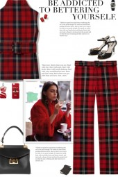 How to wear a Co-Ord Tartan Pant Set!