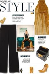 How to wear a Semi-Sheer Polka Dot Top!