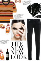 How to wear a Striped Mesh Multicolor T-Shirt!