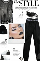 How to wear a Polymide Semi-Sheer Pants!