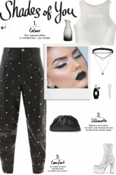 How to wear Embellished Faux Leather Pants!