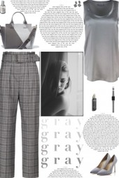 How to wear Checked High Rise Trousers!
