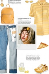 How to wear a Striped Collar Short Sleeve Shirt!
