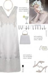 How to wear a Silk-Blend Lace Detail Dress!