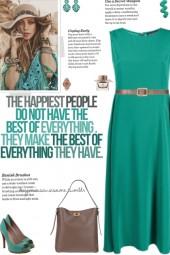 How to wear a Pleated Sleeveless Midi Dress!