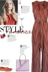 How to wear a Zigzag Sleeveless Jumpsuit!