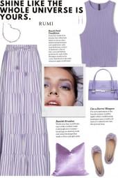 How to wear a Stripe Elasticized Waist Maxi Skirt!
