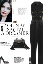 How to wear a High Waisted Silk Satin Jumpsuit!