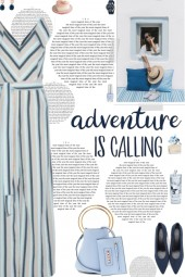 How to wear a Striped Belted Sleeveless Jumpsuit!