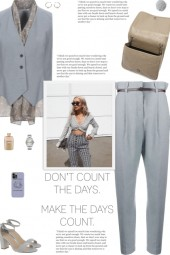 How to wear a Satin   Vest Lapel Collared Top!