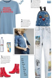 How to wear Printed Photos Denim Jeans!