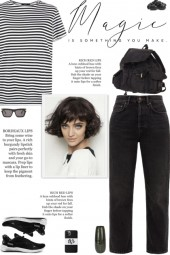 How to wear a Cotton Blend Striped T-Shirt!