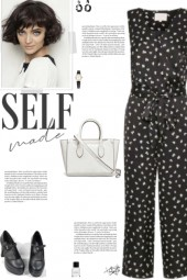 How to wear a Printed Satin V-Neck Jumpsuit!