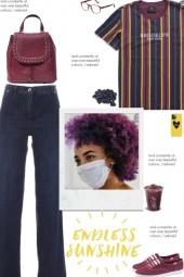 How to wear a Striped Multicolor Top!