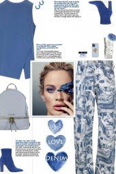 How to wear Printed Relaxed Fit Denim Jeans!