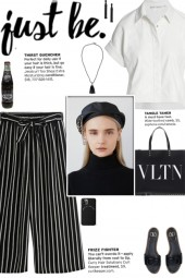 How to wear an Oversized Striped Culottes!