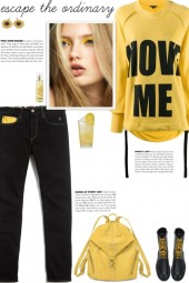 How to wear a Graphic Text Long Sleeve T-Shirt!