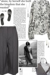 How to wear a Shell Printed Crepe Blouse!