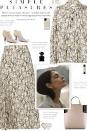 How to wear a Printed Jacquard Skirt Set!