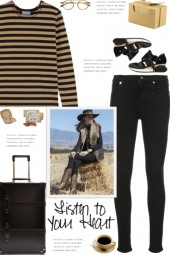 How to wear a Striped Cotton-Jersey T-shirt!