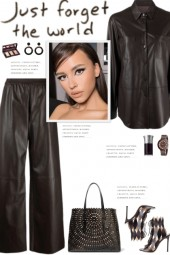 How to wear a Co-Ord Faux Leather Solid Set!