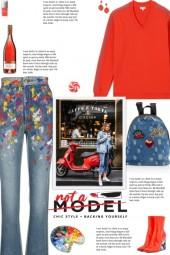 How to wear Paint-Splattered Denim Jeans!