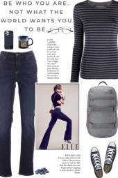 How to wear a Striped Stretch Design T-shirt!