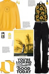 How to wear a Text-Graphic Sweatshirt!
