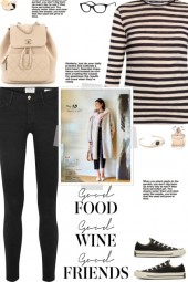 How to wear a Striped Cotton Round Neck T-shirt!