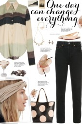 How to wear a Striped Color Block Shirt!