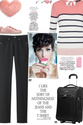 How to wear a Striped Color Block T-Shirt!