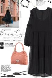 How to wear a Polka Dot Semi-Sheer Maxi Dress!