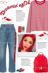 How to wear a Round Neck Stripe T-Shirt!
