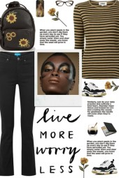 How to wear a Stripe Print Round Neck T-Shirt!