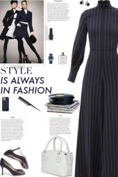 How to wear a Pinstriped Long Sleeve Jumpsuit!