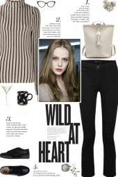 How to wear a High Neck Vertical Striped Top!