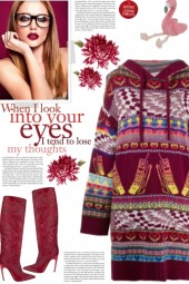 How to wear a Patterned Intarsia-Knit Hoodie Dress