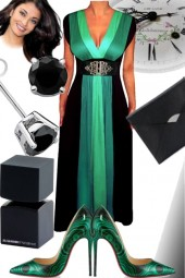 Ombre Dress Green Gown