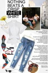Crisp White Shirt..Happy Friday