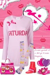 pink swaeter dress fun