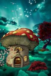 mushroom teal skys